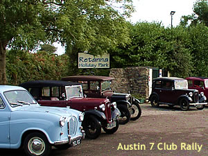 Retanna Holiday Park Austin 7 Club Rally at Retanna Holiday Park, Falmouth, Cornwall
