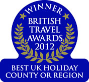 Retanna Holiday Park Winner, British Travel Awards 2012, Best UK Holiday County or Region